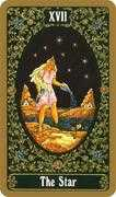 The Star Tarot card in Russian Tarot deck