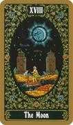 The Moon Tarot card in Russian Tarot deck