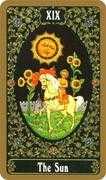 The Sun Tarot card in Russian Tarot deck