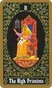 The High Priestess Tarot card in Russian Tarot deck