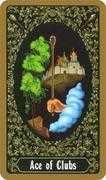 Ace of Clubs Tarot card in Russian Tarot deck