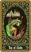 Ten of Clubs Tarot card in Russian Tarot deck