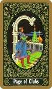 Page of Clubs Tarot card in Russian Tarot deck