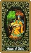 Queen of Clubs Tarot card in Russian Tarot deck