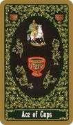Ace of Cups Tarot card in Russian Tarot deck