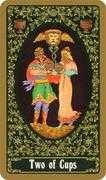 Two of Cups Tarot card in Russian Tarot deck