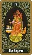 The Emperor Tarot card in Russian Tarot deck