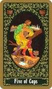 Five of Cups Tarot card in Russian Tarot deck