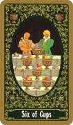 Six of Cups Tarot card in Russian Tarot deck