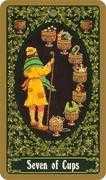 Seven of Cups Tarot card in Russian Tarot deck