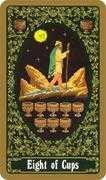 Eight of Cups Tarot card in Russian Tarot deck