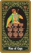 Nine of Cups Tarot card in Russian Tarot deck