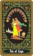 Ten of Cups Tarot card in Russian Tarot deck