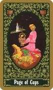 Page of Cups Tarot card in Russian Tarot deck