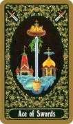 Ace of Swords Tarot card in Russian Tarot deck
