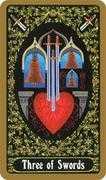 Three of Swords Tarot card in Russian Tarot deck