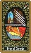Four of Swords Tarot card in Russian Tarot deck