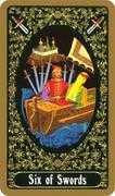 Six of Swords Tarot card in Russian Tarot deck