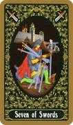 Seven of Swords Tarot card in Russian Tarot deck