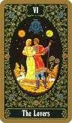 The Lovers Tarot card in Russian Tarot deck