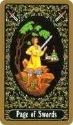 Page of Swords Tarot card in Russian Tarot deck