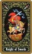 Knight of Swords Tarot card in Russian Tarot deck