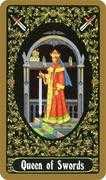 Queen of Swords Tarot card in Russian Tarot deck