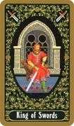 King of Swords Tarot card in Russian Tarot deck