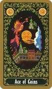 Ace of Coins Tarot card in Russian Tarot deck