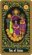 Ten of Coins Tarot card in Russian Tarot deck