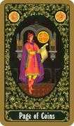 Page of Coins Tarot card in Russian Tarot deck