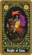Knight of Coins Tarot card in Russian Tarot deck