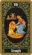 Strength Tarot card in Russian Tarot deck