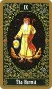 The Hermit Tarot card in Russian Tarot deck