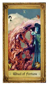 The Wheel of Fortune Tarot Card - Sacred Art Tarot Deck