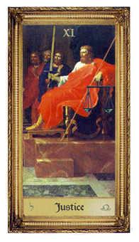 Justice Tarot Card - Sacred Art Tarot Deck