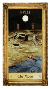 The Moon Tarot Card - Sacred Art Tarot Deck