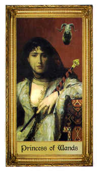 Valet of Batons Tarot Card - Sacred Art Tarot Deck