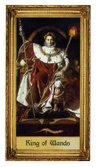 King of Batons Tarot Card - Sacred Art Tarot Deck