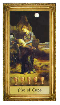 Five of Cauldrons Tarot Card - Sacred Art Tarot Deck