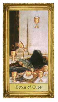 Seven of Cauldrons Tarot Card - Sacred Art Tarot Deck