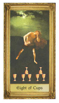 Eight of Cups Tarot Card - Sacred Art Tarot Deck