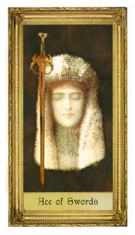 Ace of Swords Tarot Card - Sacred Art Tarot Deck