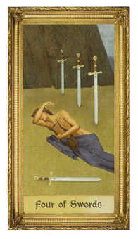 Four of Arrows Tarot Card - Sacred Art Tarot Deck