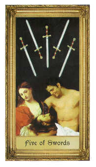 Five of Swords Tarot Card - Sacred Art Tarot Deck