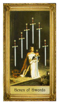 Seven of Swords Tarot Card - Sacred Art Tarot Deck