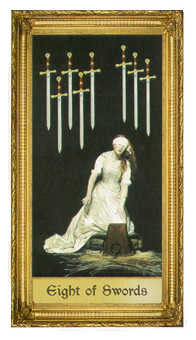 Eight of Arrows Tarot Card - Sacred Art Tarot Deck