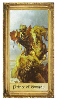 Cavalier of Swords Tarot Card - Sacred Art Tarot Deck