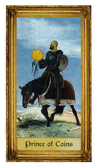 Knight of Coins Tarot Card - Sacred Art Tarot Deck