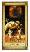 The Devil Tarot card in Sacred Art Tarot deck